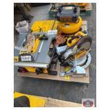 DeWalt tools 3 pcs. Air compressor, 10 inch miter