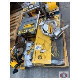 DeWalt tools 4 pcs . 12 inch miter saw, 10 inch