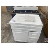 Lot of two vanities for bathrooms one in color