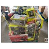 Ryobi and more. Assorted landscaping equipment
