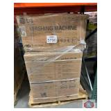 LG washer machine side kick content on the pallet