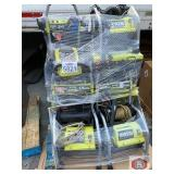 Ryobi 7 pressure washers content on the pallet