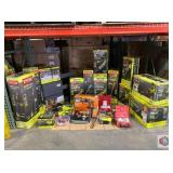 Ryobi and More. Assorted brands of tools