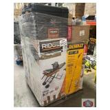 Home improvement and tools pallet. Ridgid tlle saw