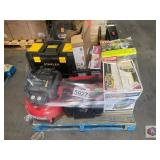 Stinger vacuum, Ryobi tule saw, chain saw, porter