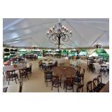 Tents, chandeliers, heaters