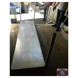 Two Shelving stainless steel used for order taking
