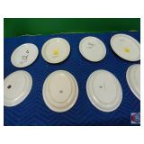 Oval and Round plate lot