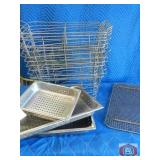 Mixed Lot Wire basket and strainer trays