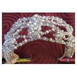 Headband. Pearls and beads. Wide. Millinery. (Ref