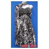 Size10. BrandB Dazzle Color Black and white.