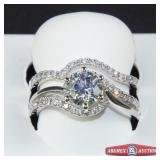 Valina engagement ring and wedding band. Metal