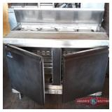 Ascend SS two door refrigerated prep table.