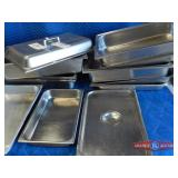 Mixed lot of SS trays and lids