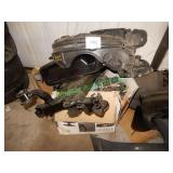 Fuel Tank & Assorted Automotive Parts in Group