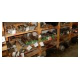5 Cylinder Heads & Misc. Auto Parts in Row