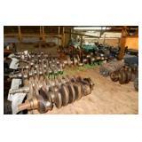 18 Assorted Crank Shafts & 3 Transmission Cores