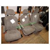 Grey Cloth Interior Seating (3 Matching Pcs.)