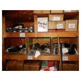 Assorted Flow Meters in Group on 2 Shelves