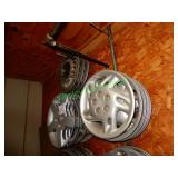 Chevy, Pontiac & Other Hubcaps in Group - 3 Stacks