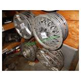 Assorted Hubcaps in Group