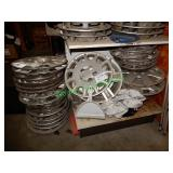 Assorted Hubcaps in Group - 3 Stacks