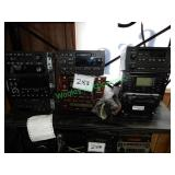 9 Assorted Audio Systems in Group