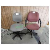 (4) Adjustabel Office Chairs in Group