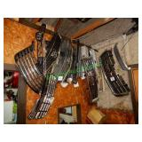 Assorted Car & Truck Grills in Group Hanging