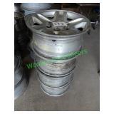 "16"" Toyota Wheels W/ Lug Nuts (Set of 4)"