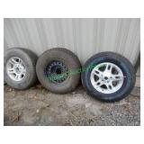 (3) Goodyear Tires & Wheels