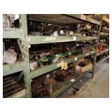 Assorted Auto Parts on 3 Shelves in Pallet Racking