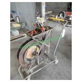 Banding Wheel on Cart W/ Crimper & Supplies