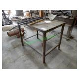 "42"" x 26"" Steel Welding Table"