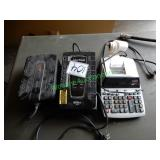 (2) Surge Protectors & Adding Machine