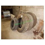 (5) Used Truck Tires In Group