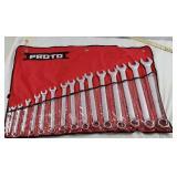 PROTO 16pc SAE Satin Finish Wrench Set NEW