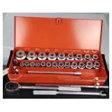 "PROTO 29-Pc 3/4""Dr SAE Chrome Socket Wrench Set"