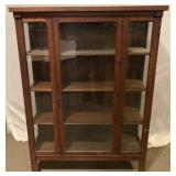 Oak and Glass China Cabinet
