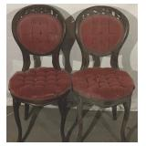 Carved back Parlor Chairs