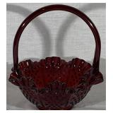 "Ruby ""Hobnail"" Brides Basket"