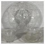 Set of Pressed Glass Tableware