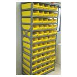 Metal Parts Bins W/ Yellow Trays