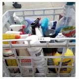 Milk Crate of Cleaning Supplies