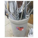 35 Gal Can Conduit, Steel Scrap Pieces