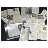 Pearl Jam Collection of Newspaper Articles