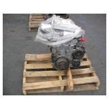 PALLET WITH CAR ENGINE