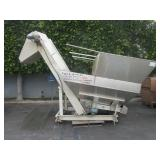 STAINLESS STEEL HOPPER FEED CONVEYOR SYSTEM