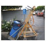 HEAVY EQUIPMENT DOLLY WITH TRASH & ASSORTED