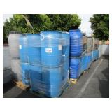 ROW OF PLASTIC DRUMS